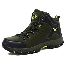 Mens Autumn Trail Hiking Boots Shoes High Top Outdoor Non Slip Walk Casual Shoes