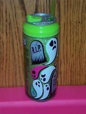 """Cool Gear Soda Can 16 oz """"Ghost Graves"""" Glittery Travel Cup Tumbler Sip or Chug"""