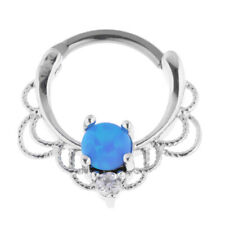 Crystal Stainless Steel Nose Belly Eyebrow Tragus Lip Ear Nipple Ring Piercing