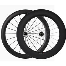 3K Matte Glossy Front 60mm+Rear 88mm Depth Tubular Road Bicyclebike Carbon Wheel