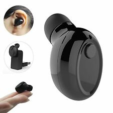 Mini Single Wireless Bluetooth Stereo Headset In-Ear Earphones Earbuds Headset