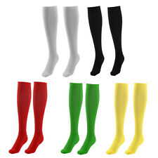 Adult Cotton Blends Knee High Style Hockey Rugby Soccer Football Long Socks Pair