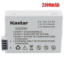 Kastar LPE8 Battery for Canon EOS 550  600D 700D, EOS Rebel T2i T3i X4i X5i