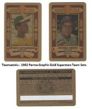 1982 Perma-Graphic Gold Superstar Credit Cards Baseball Set ** Pick Your Team **