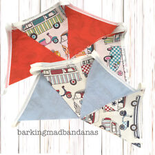 Cotton Bunting VW Campervan Party Bunting Marquee Bunting fabric VDub Gifts Cars