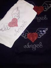 Womens BLING Designer Studded Angel Tank Top Choice of Color / Size