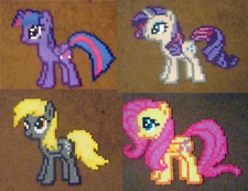 My Little Pony: Friendship is Magic handmade perler crafts Take your pick(s)!