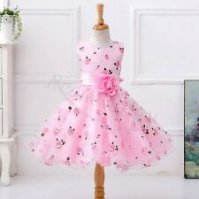Flower Girl Princess Dress Kids Baby Party Pageant Wedding Bridesmaid Tutu Dress