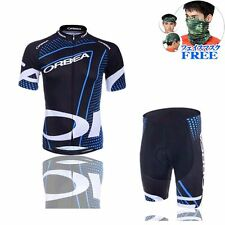 Cycling Team Short Sleeve  jersey Jacket short Outdoor Bike Bicycle Wear blue