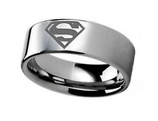 DC Comics SUPERMAN Logo Stainless Steel BAND RING