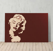 Marilyn Monroe Canvas Print Poster Decorative Picture Wall Art Decor Burgundy