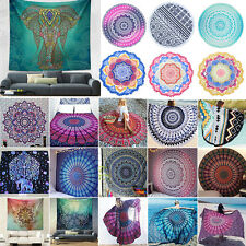 Bohemia Hippie Tapestry Outdoor Beach Round Blankets Rug Mandala Throw Bedspread