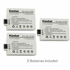 Kastar LP-E5 Battery for Canon Canon EOS 450D  500D 1000D, Kiss F X2 X3,Rebel XS