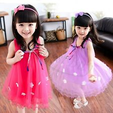 Girl Princess Dress Kids Baby Girl Party Wedding Floral Tutu Dresses Frock Skirt