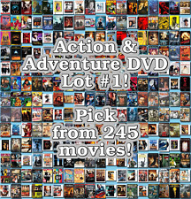 Action & Adventure DVD Lot #1: 245 Movies to Pick From! Buy Multiple And Save!