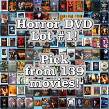 Horror DVD Lot #1: 139 Movies to Pick From! Buy Multiple And Save!