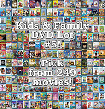 Kids & Family DVD Lot #5: 249 Movies to Pick From! Buy Multiple And Save!