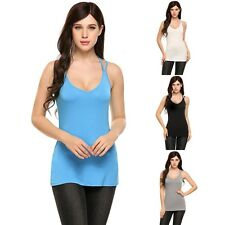 Women Fashion Summer Tank Tops Sleeveless Casual Slim Camisole Shirt