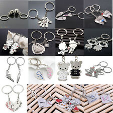 2Pcs Love Heart Symbols Key Chain Ring Keyring Keyfob Lover Couples Gift Luxury