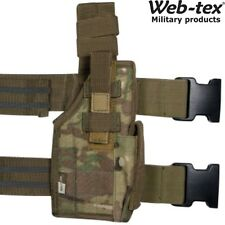 WEB-TEX US ASSAULT LEG PISTOL HOLSTER TACTICAL GUN & MAG HOLDER POUCH MILITARY
