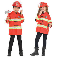 Amazing Me Kids Fire Chief Kit Childs Firefighter Book Week Fancy Dress Costume
