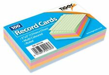 Record Cards Assorted Coloured Feint Ruled Revision Report Record Card Notes NEW