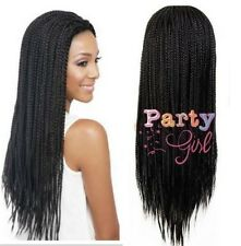 Long Braid Wigs None Lace Wig Synthetic Micro Box Braid Wigs for Black Women