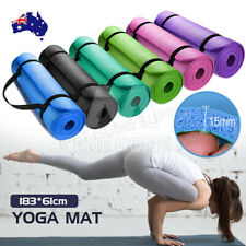 15mm Yoga Mat Pad NBR Thick Fitness Gym Pilate Exercise Postage