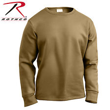Rothco ECWCS Poly Crew Neck Top - Coyote Brown Extreme Cold Weather Undershirt