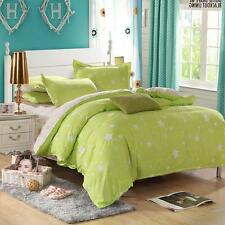 Green Star Single Double Queen Size Bed Set Pillowcase Quilt Duvet Cover FitCA