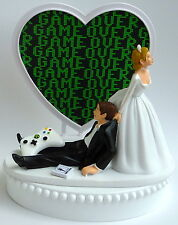 Wedding Cake Topper Game Over Video Gaming Themed Gamer Bride Groom Humorous Fun