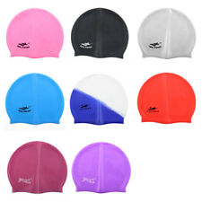 Silicone Dome Shaped Non-slip Stretchable Swimming Cap Portable Bathing Hat