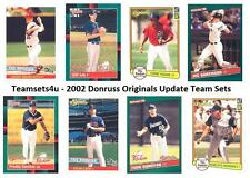 2002 Donruss Originals Update Baseball Set ** Pick Your Team **