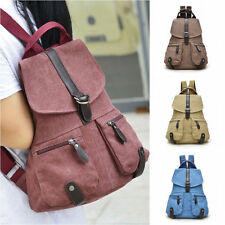 Hot Women Men Canvas Rucksack Camping School Satchel Hiking Bag Backpack 40b