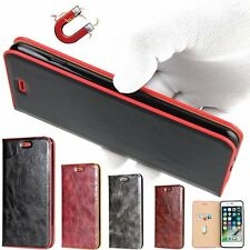 PU Leather Wallet Cover Crazy Horse Flip Magnetic Case Cover For iPhone 7/7 Plus