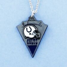 Indianapolis Colts Necklace - Pewter Charm on Chain NFL Pro Football Logo NEW