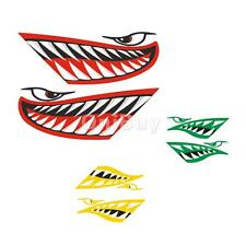 2x Vinyl Shark Teeth Mouth Funny Decals Stickers for Kayak Canoe Boat Dinghy Car
