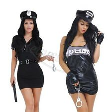 Women Police Cop Officer Costume Halloween Policewoman Cosplay Sexy Lingerie New