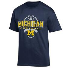 University of Michigan Wolverines football T shirt NCAA Blue