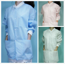 10 Hip Length Unisex SMS Three-Layer Disposable Lab Coats Gowns Dental Medical