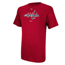 Washington Capitals reebok NHL Primary Logo Men T Shirt Red