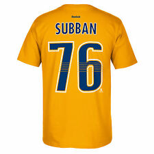Nashville Predators PK Subban Reebok NHL Player T shirt Men's Yellow