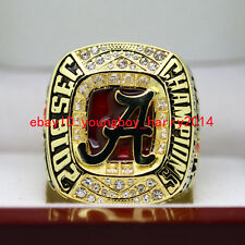 2016 Alabama Crimson Tide SEC National Championship Solid Ring 8-14Size+Box
