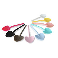 180 Pcs Disposable Heart Dessert Cake Party Spoon Multicolor Plastic Tableware