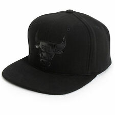 Mitchell and Ness NBA Chicago Bulls Team Logo Blacked Out Fitted Cap