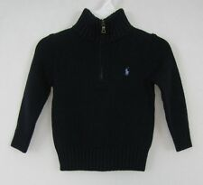 Polo Ralph Lauren sweater boys 1/2 zip cotton sweater size 12M NEW