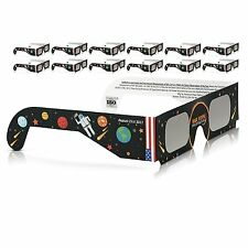 Solar Eclipse Glasses 2017 Galaxy Edition (10 Pack) CE and ISO Standard Viewing`