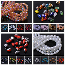 3mm Faceted Czech Glass Crystal Loose Spacer Teardrop Beads Jewellery Findings