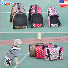 Soft Portable Puppy Dog Cat Tote Carry Carrier House Kennel Pet Cage Travel Bag