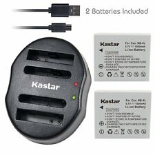NB-4L Battery&Dual USB Charger for Canon PowerShot SD430 SD450 SD600 SD630 SD750